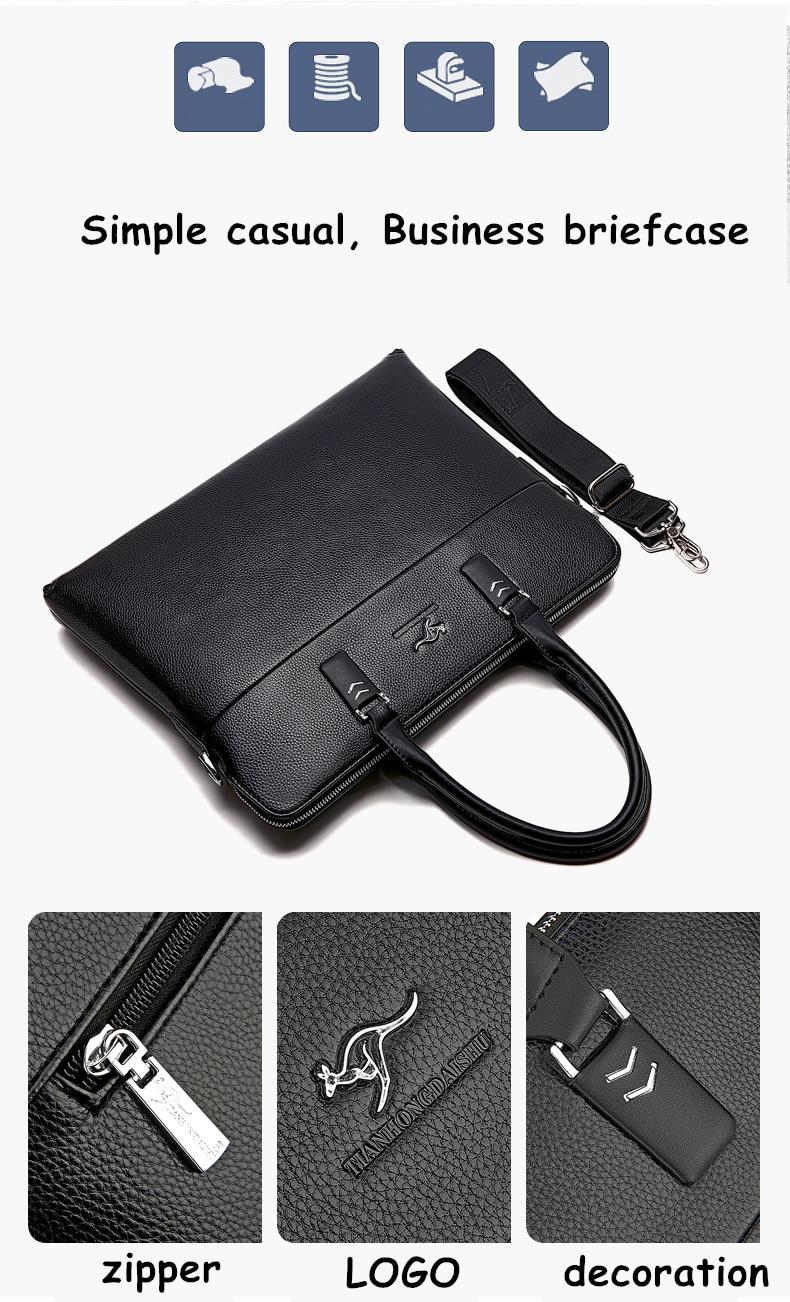 HTB12cRVXWigSKJjSsppq6ybnpXao TIANHONGDAISHU Men Casual Briefcase Business Shoulder Leather Messenger Bags Computer Laptop Handbag Men's Travel Bags handbags