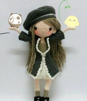 crochet toys  amigurumi  rattle  fashion   girl   number  wp030