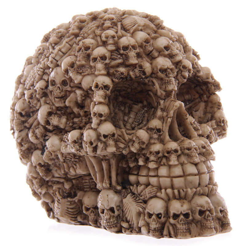 Homosapie Skull Statue Figurine Human Shaped Skeleton Head Medical Demon Ghost Evil Multiple Samhain Home Decoration Accessories