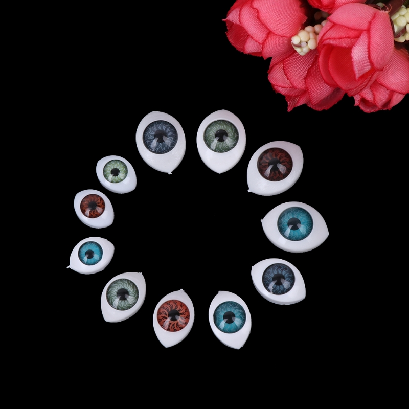 20Pcs Plastic Doll Safety Eyes For Animal Toy Puppet Making DIY Craft Accessories 100set box 10mm 12mm plastic craft toy doll eyes safety eyes handmade accessories children diy creative toys dolls accessories
