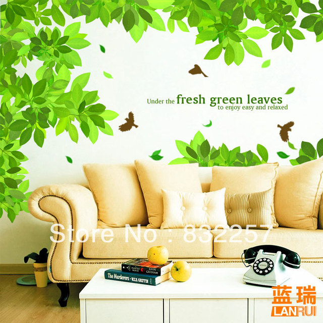 Sofa TV Wall Decoration Tree Wall Decals Family Tree Cheap Wall ...