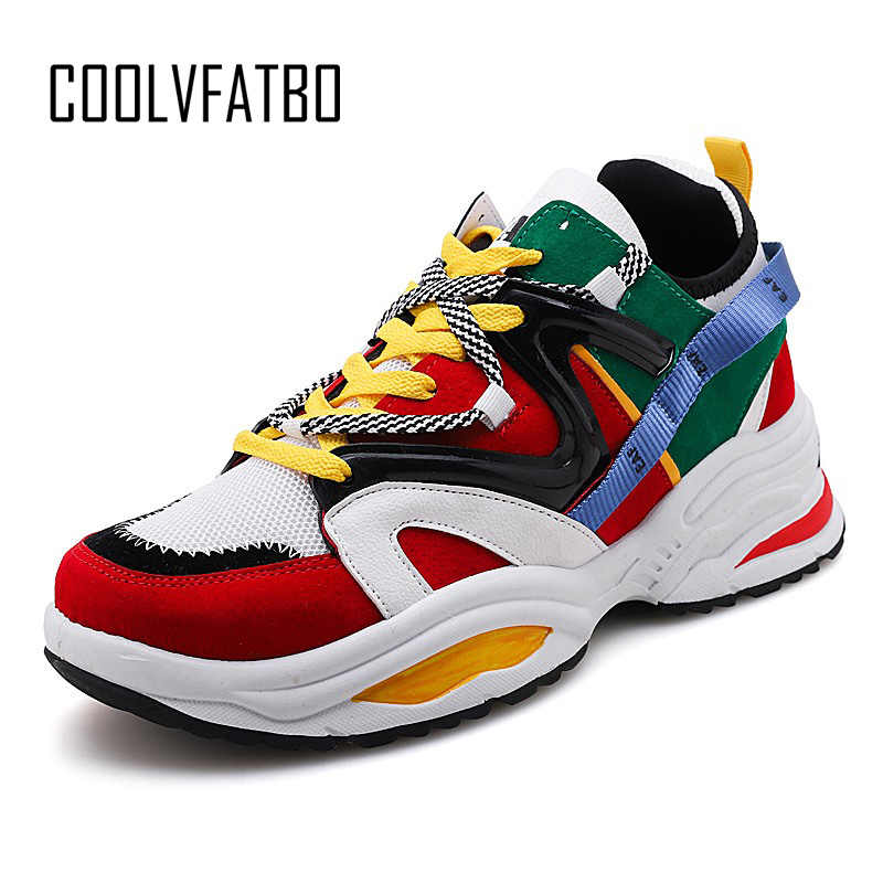 63a6c13f54 COOLVFATBO Men Casual Shoes Spring Autumn Breathable Mens Shoes Zapatillas  Hombre Fashion Lace Up Shoes masculino