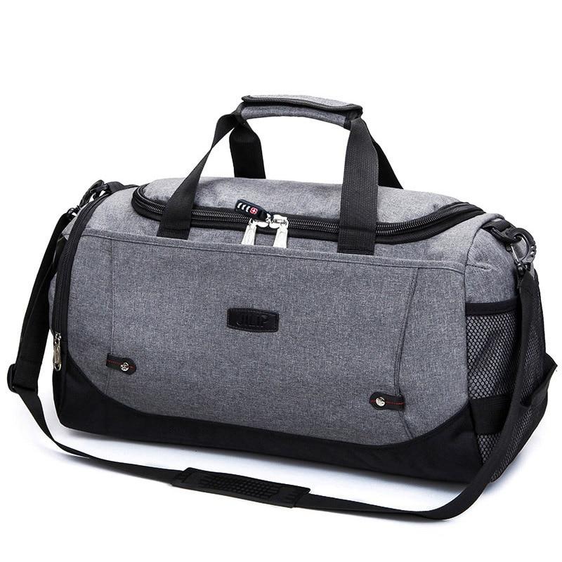 MARKROYAL Многофункциональный Водонепроницаемый Для мужчин Дорожная сумка с защитой от краж дорожная сумка для путешествий большой Ёмкость Сумки из натуральной кожи для уик-энда в одночасье - Цвет: Gray