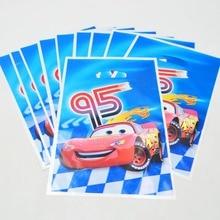 10pcs 95 Car Lightning McqueeGift Bag Candy/Loot Cartoon Theme Party Festival&Event Birthday Decoration Favor Supplies
