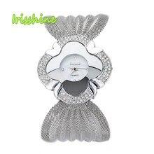 Irisshine i0558 senhora Bracelete de Diamantes Relógio Espelho de Luxo Relógio De Quartzo das mulheres relógios presente