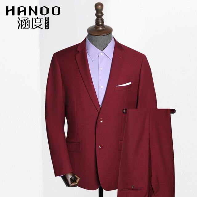 da765982a De Color rojo Los Hombres Trajes de Negocios Chaqueta + Pantalones +  Chaleco trajes para hombre