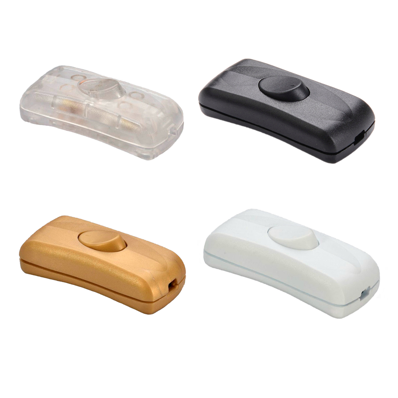 DIY встроенный выключатель, черный, белый цвет, настольная лампа, светильник, шнур, кабель