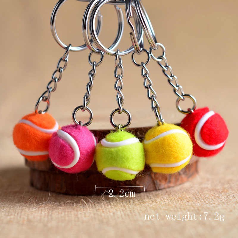 3D tennis ball keychain cute key ring for women tennis key chain key holder creative portachiavi chaveiro llaveros bag charm