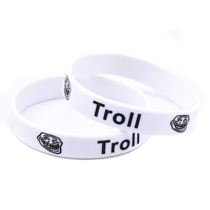 ᗛOnebandahouse 50 unids/lote Troll pulsera de silicona, alternativa ...
