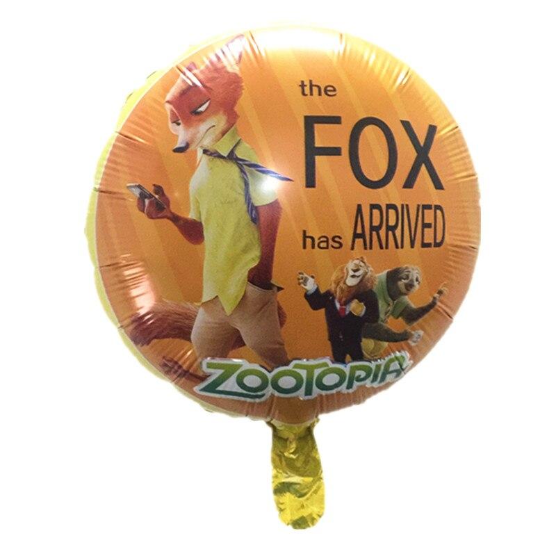Zootopia Design Foil Balloons Helium Judy Nick Birthday Balloon Party Supplies Toys rabbit fox captian baloes de festa