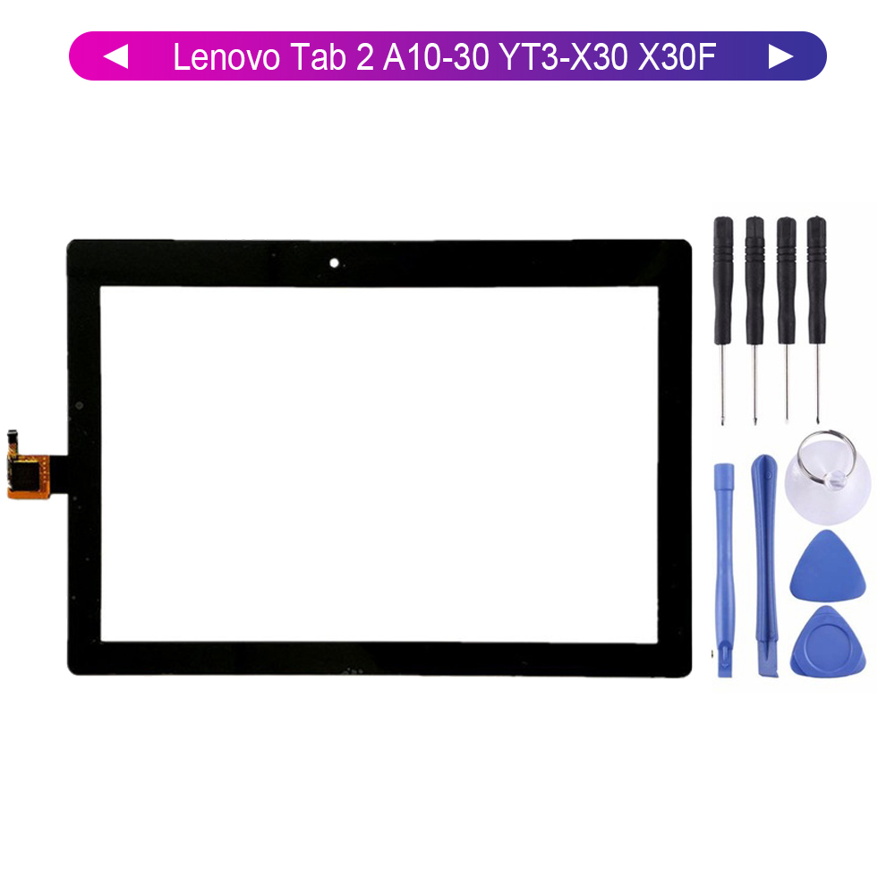 KUERT Screen For Lenovo Tab 2 A10-30 YT3-X30 X30F TB2-X30F TB2-X30L Touch Screen Digitizer Panel Glass Sensor With Free Tools