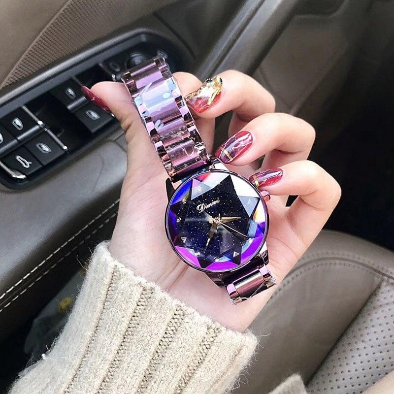 Watch Women Luxury Brand Lady Crystal Fashion Rose Gold Quartz Wrist Watches Female Stainless Steel Wristwatch