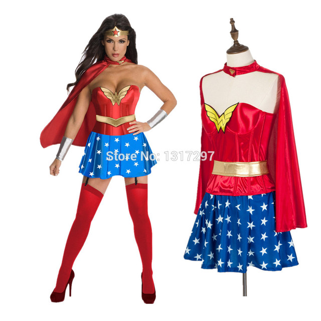 85010d9a4d97d US $15.19 20% OFF|Vocole High Quality Deluxee Wonder Woman Costume  Halloween Super Hero Cosplay Uniform Size S XXL-in Movie & TV costumes from  Novelty ...