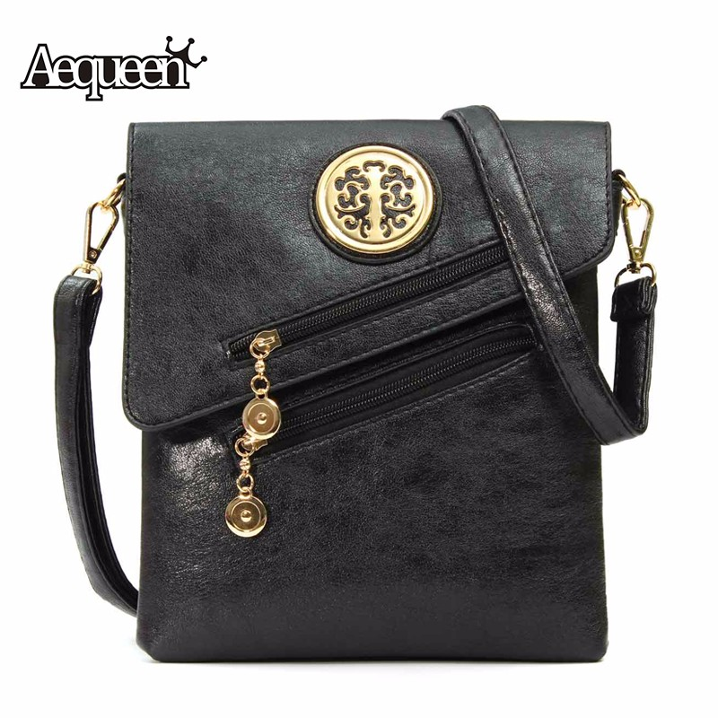 AEQUEEN Women Shoulder Bag Vintage National Style Soft PU Leather Crossbody Girl