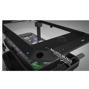 Image 4 - עמיד למים עמיד הלם טלפון מקרי iphone7 7p 6 6s 5 5S 5SE 4S מתכת אלומיניום כפול להגן על מוקשח מקרה כיסוי + מזג זכוכית