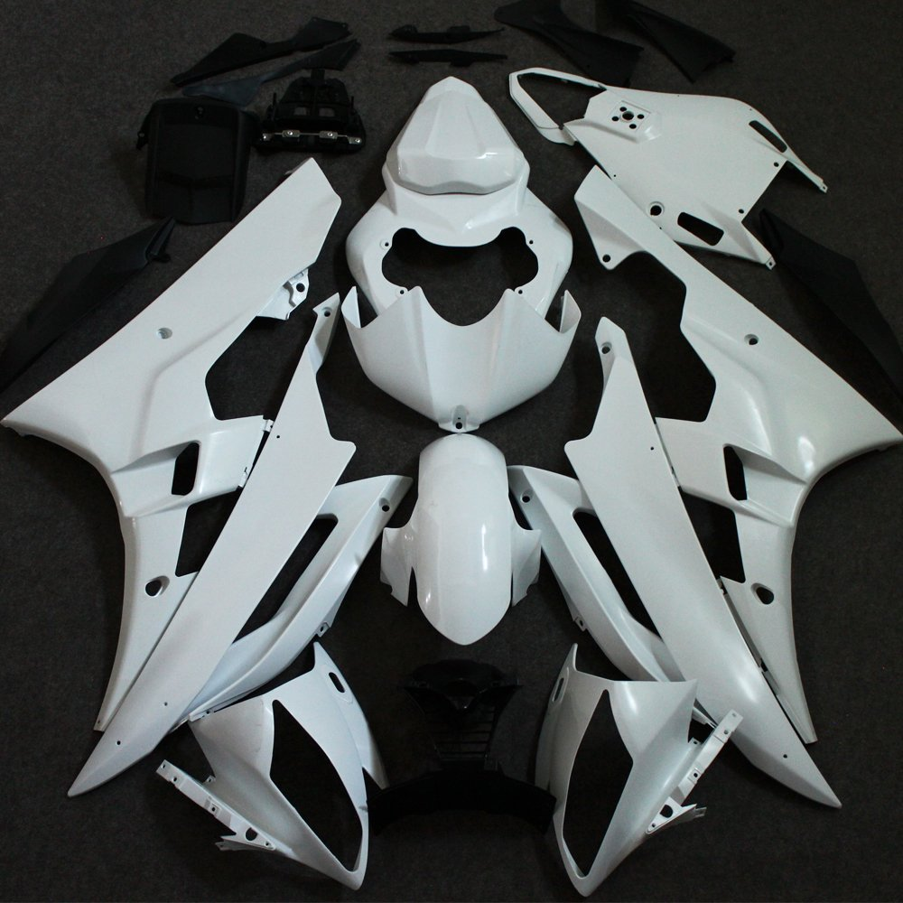 Motorcycle Full Unpainted Fairing Set For Yamaha YZF R6 YZFR6 2006 2007 YZF-R6 06 07 Injection Molding Fairings Cowl Bodywork for yamaha yzf 600 r6 2006 2007 yzf600r inject abs plastic motorcycle fairing kit bodywork yzfr6 06 07 yzf600r6 yzf 600r cb32
