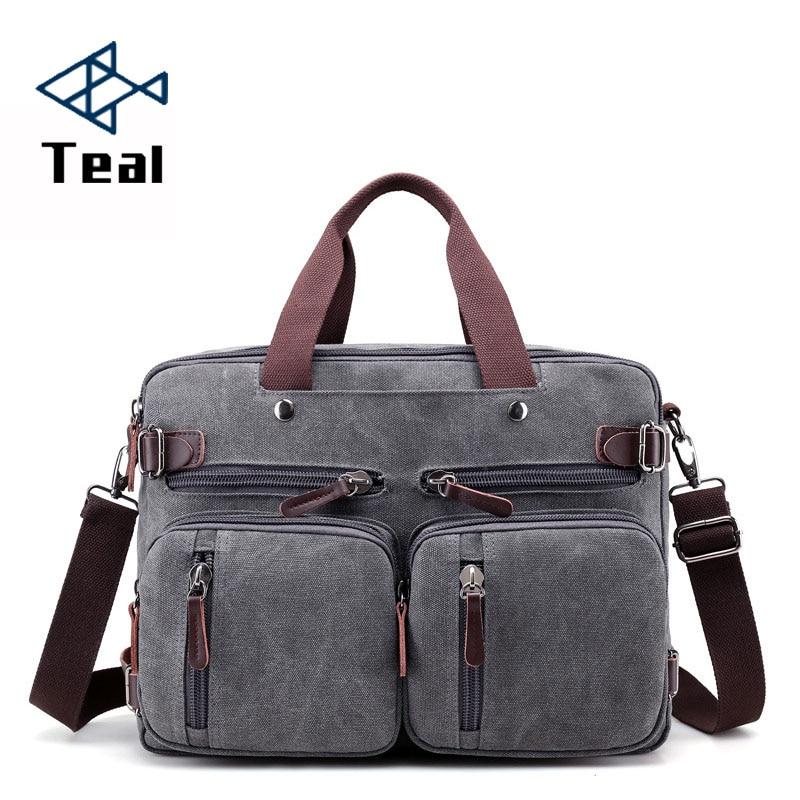 2020 Men Canvas Bag Canvas Briefcase Travel Suitcase Messenger Shoulder Tote Handbag Large Casual Business Laptop Multifunction