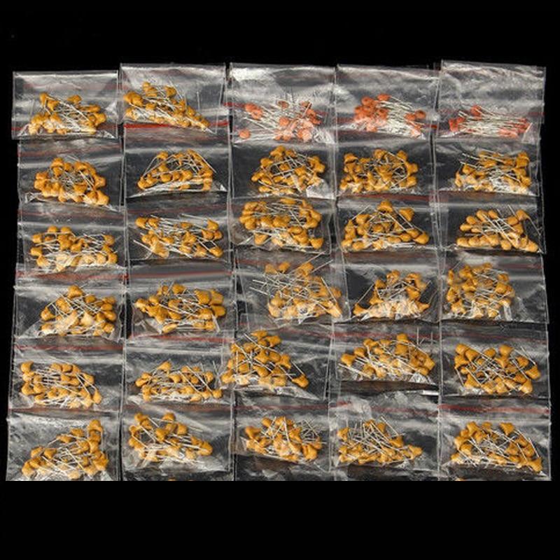 300 шт./лот керамический конденсатор 2PF-0.1UF 30 Значения * 10 шт. электронный Компоненты посылка керамический конденсатор Ассорти Kit образцы ...