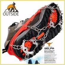 جودة في الهواء الطلق تسلق الأشرطة المضادة للانزلاق الشتاء المشي 18 الأسنان الجليد الصيد أحذية الثلوج المنغنيز الصلب زلة أغطية الحذاء