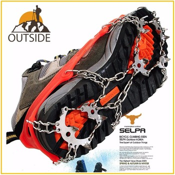 Quality Outdoor Climbing Antiskid Crampons Winter Walk 18 Teeth Ice Fishing Snowshoes Manganese Steel Slip Shoe