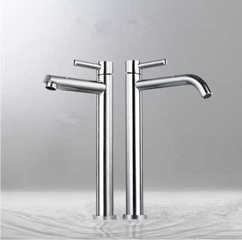 Brass chrome Tall sink faucet bathroom slim hot and cold basin water mixer tap bathroom single sink faucet free shipping