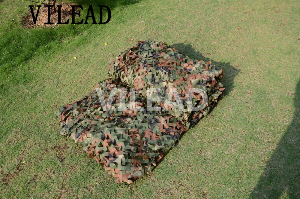 VILEAD 3.5M x 8M (11.5FT x 26FT) Woodland Digital Military Camouflage Netting Army Camo Net Sun Shelter for Hunting Camping Tent vilead 5m x 8m 16 5ft x 26ft desert military army camouflage net digital camo netting jungle sun shelter for hunting camping
