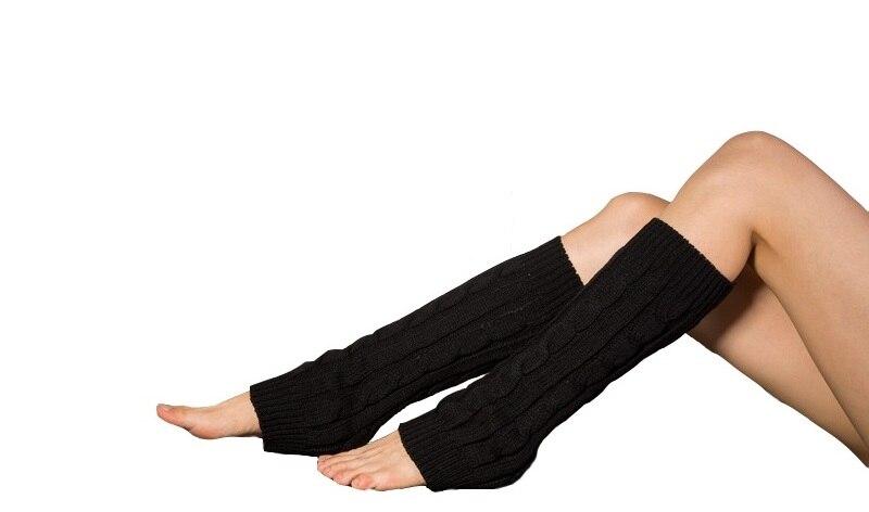 outono inverno acrílico crochê perna aquecedores respirável anti-fricção punhos bota