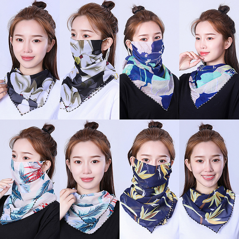 Lightweight Ice Silk Sun Protection Riding UV Protective Face Mask Scarf Outdoor