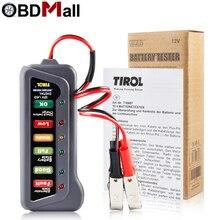 バッテリーテスターデジタル容量テスターチェッカー 12 V バッテリー電源テスター測定器のための 6 led ライトディスプレイ