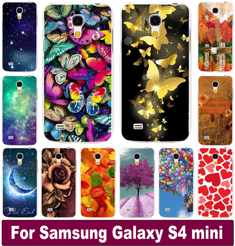 skin hood For Samsung galaxy S4 mini I9190 Brilliant Rose Peony Flowers Background phone case cover skin Shell cover cases