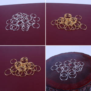 Bead Hair-Accessory Dreadlock-Ring-Beads Circle Braided Gold Hoop Adjustable Long
