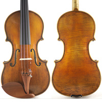 The Harrison Amati Violin Geige Concerto Best Model Top Handmade Oil Varnish Antique Violin Great Setup