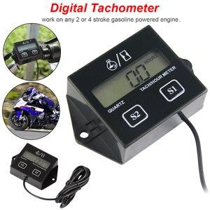 LCD Digital Engine Tach Hour M