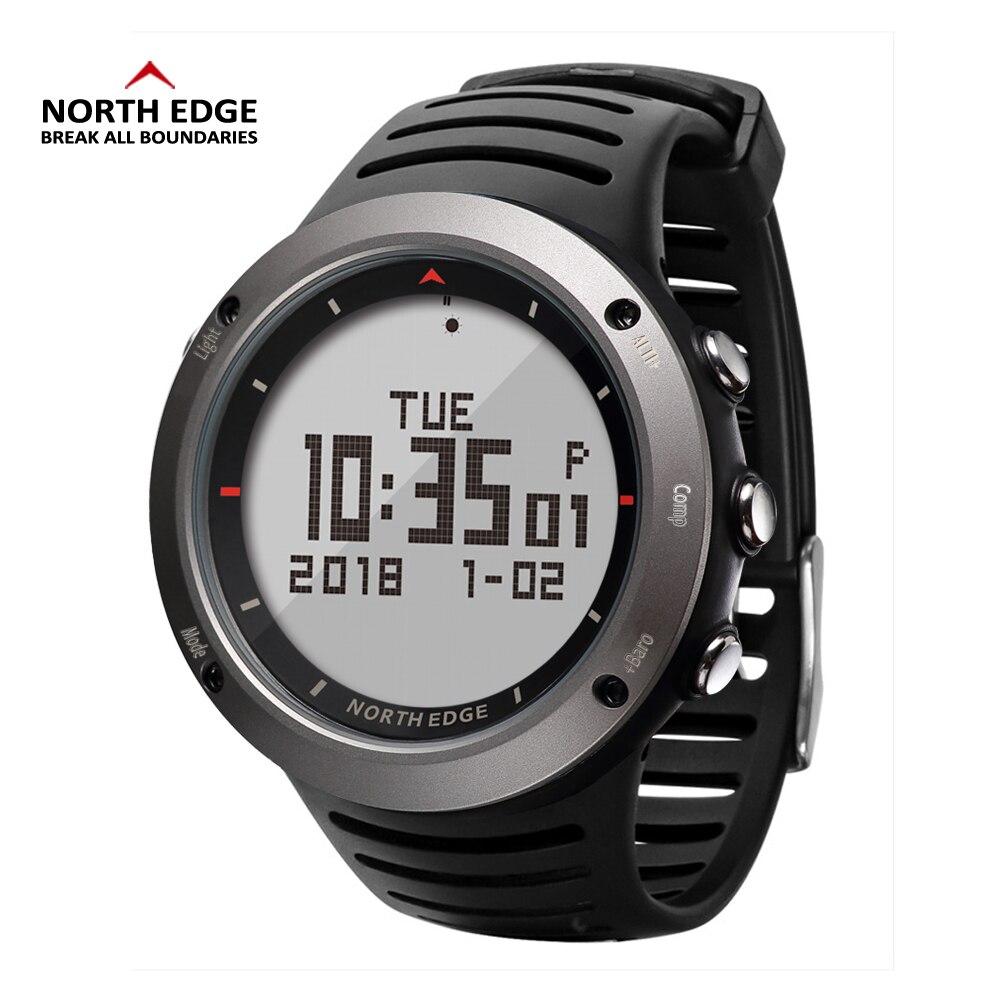 북쪽 가장자리 남자 스포츠 시계 고도계 기압계 나침반 온도계 단계 보수계 칼로리 시계 디지털 실행 등산 시계-에서디지털 시계부터 시계 의  그룹 1