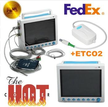 CMS8000 With Capnograph CO2 Patient Monitor +ETCO2 Vital Signs 7 Parameters USA