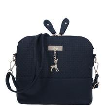 Good Quality Women Messenger Bags Leather Mini Bag With Deer Toy Small Shell Shape Shoulder Bags Women Handbag Bolsas LS1032