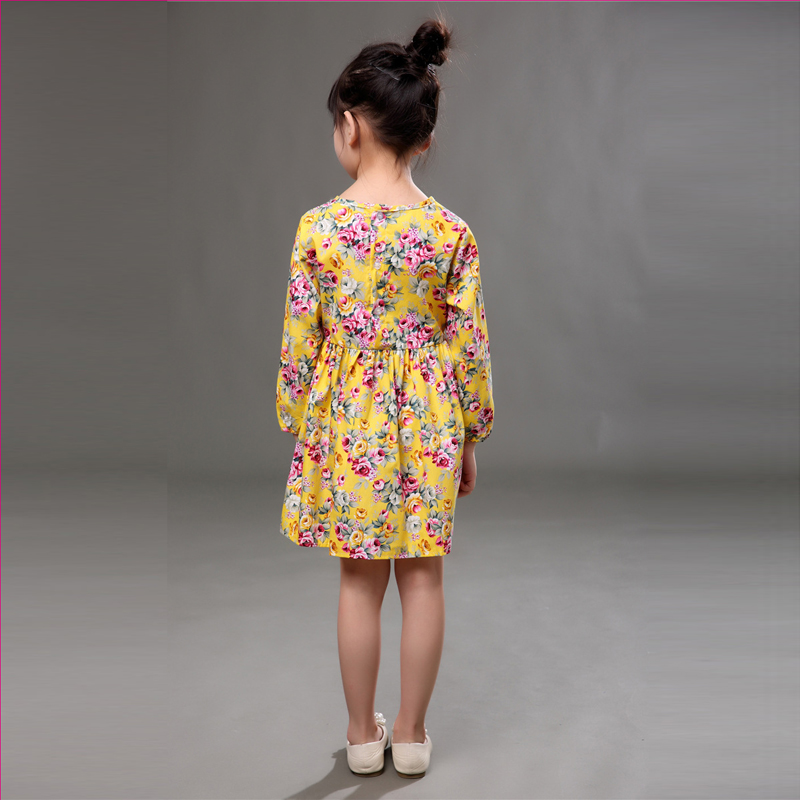 2 3 4 5 6 7 8 Years Kids Dresses for Girls 2018 New Summer Autumn Long Sleeve Girls Clothes Flower Children Pirncess Dresses in Dresses from Mother Kids