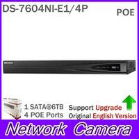 CCTV System ONVIF 4ch NVR DS 7604NI E1 4P Economic Plug Play NVR 4ch For IP