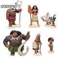 6pcs/lot Moana princess boneca action figure toys set 2017 New Moana dolls Pua Maui Heihei Oyuncak birthday party supply decor