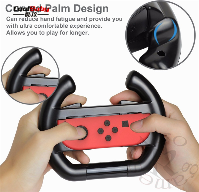 for nintend Switch Joy-Con Small Handle Steering Wheel game component video game controller TNS-852 Enhanced feel 2
