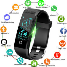 LIGE 2019 New Smart Wristband Heart Rate Tracker Blood Pressure Oxygen Fitness wrisband IP68 Waterproof Smart watch Men women(China)