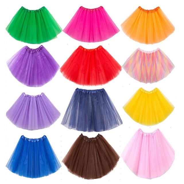 About 40cm Short Transparent Ballet Petticoat Tulle Skirts Womens Girls Elastic 3 Layers Adult Tutu Skirt Underskirt Rockabilly