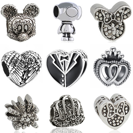10 Tibetan Silver 3d Heart Pendant Charms Solid 11mm
