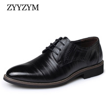High-quality Men Brogue shoes Lace-up style leather for mens suede casual Large size EUR 38-45