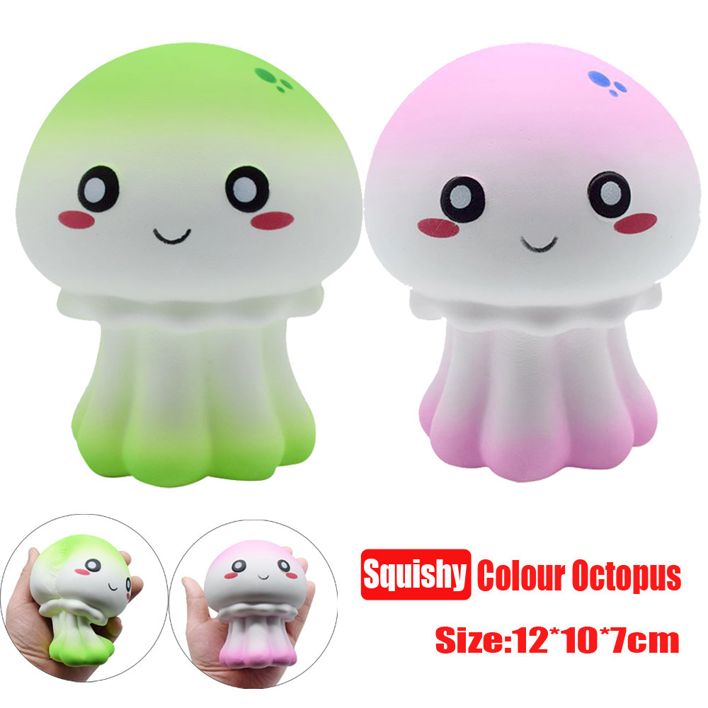 New Colour Octopus Scented Squishy Slow Rising Squeeze Toy Collection Cure Gift funny squishys brinquedos anti stress