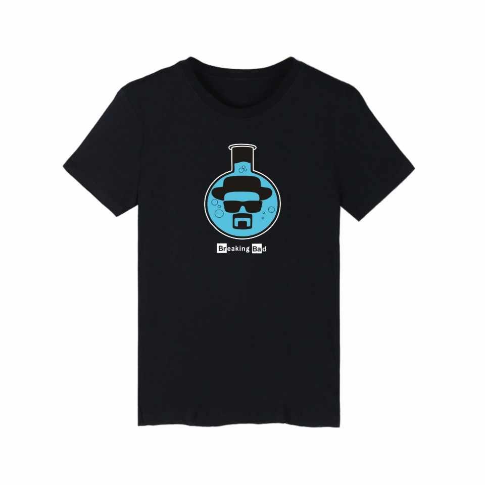 LUCKYFRIDAYF Heisenberg Cranio In Breaking Bad Divertente Tee Shirt Manica Corta T Shirt Uomo Estate E T-Shirt Vestiti Degli Uomini Del Cotone
