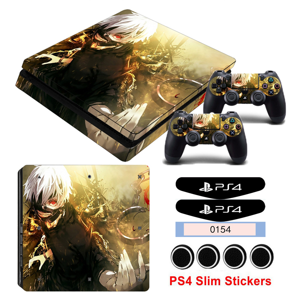 PS4 Slim Controller Gamepad Stickers For Playstation 4 Slim Console Vinyl Skin Decals { CALL to EXIST }  Game Style Sticker