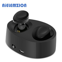 Best Buy AiELEMZION TWS Bluetooth True Wireless Stereo Earphones with MIC Support Aptx Headset Handsfree Earbud With Charging Box