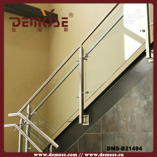 Indoor Side Mounted Plexiglass Stair Handrail