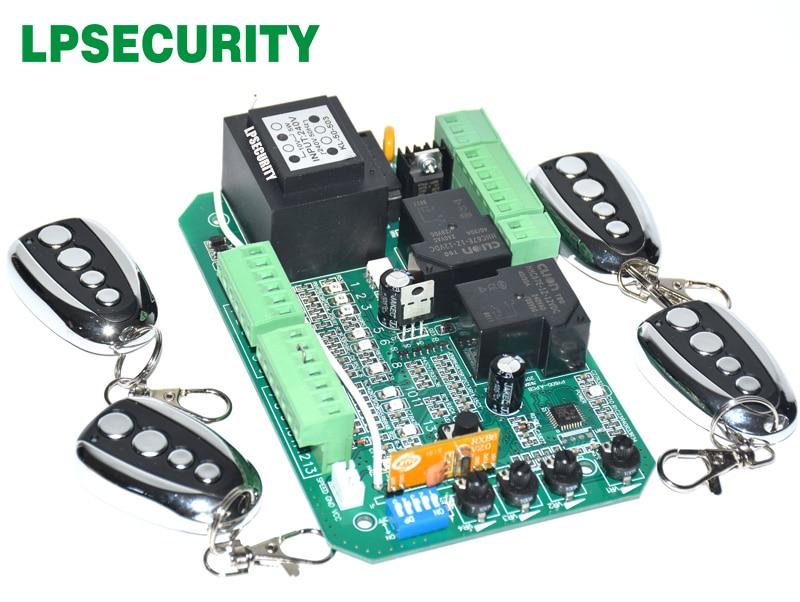 gate motor controller circuit board electronic card for sliding gate opener soft start function pedestrian mode